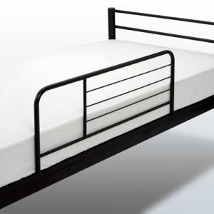 ベッドサイドガード ベッドサイドレール ベッドガード 転落防止 ベッドフェンス ガード ブラック ずれ防止 BSG-350|lookit