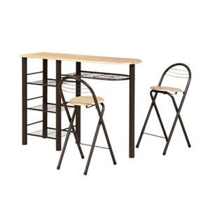 カウンターテーブルセット ダイニングセット テーブル チェア 3点セット カウンターテーブル カフェ ハイテーブル ハイタイプ カウンターチェア CT-1200|lookit