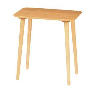 ハイテーブル 幅600×高さ640mm テーブル つくえ ハイタイプ ナチュラル シンプル 角型天板 木製テーブル 机 リビング サイドテーブル 居間 飾り台 HT600H|lookit