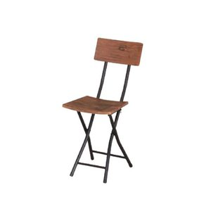 折りたたみチェア ブラウン 折りたたみ椅子 背付きチェア 肘なしチェア モダン おしゃれ 便利 ロック機能付き チェア フォールディングチェア PFC-VC2|lookit