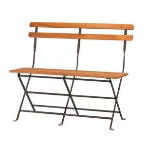 折りたたみベンチ フォールディングチェア フォールディングベンチ ガーデンチェア ベンチ 木製チェア 木製ベンチ テラス カフェ ベランダ PRE-B91|lookit
