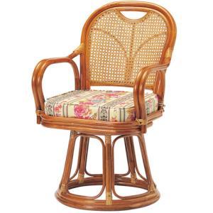 ラタンチェア R-440S 回転 椅子 いす イス 肘付 藤|lookit