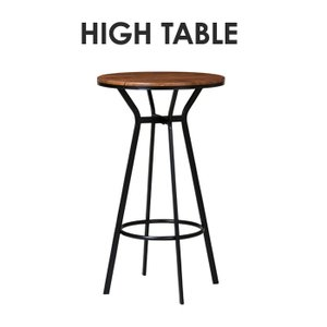 ハイテーブル 丸型テーブル バーテーブル カフェ 木製天板 スチール脚 おしゃれ モダン 北欧風 飲食店 居間 家庭用 店舗用 テーブル 机 VH-T60|lookit