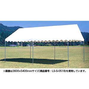 テント 中折れ式 3600×7200mm タープテント 仮設テント 市場 フリーマーケット 教育施設 運動施設 屋外 国産 S-0519|lookit