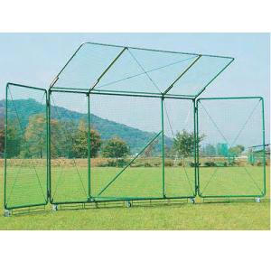 移動式バックネット 幅9m 高さ4m 日本製 キャスター ストッパー付き 袖部可動式 フェンス 野球練習用 教育施設 部活 野球 テニス AO型 900cm S-4753|lookit