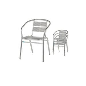 アルミチェア スタッキングチェア ガーデンチェア テラスチェア 椅子 チェア 屋外チェア 庭 プールサイド オープンテラス 業務用 店舗用品 S-8493|lookit