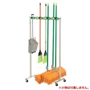 ★新品★ モップハンガー 収納ラック 掃除道具 モップ S-9495|lookit