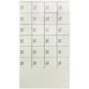 【訳あり】 ロッカー 24人用 4列6段 内筒交換錠 スチールロッカー かぎ付き 更衣ロッカー スチール製 収納 オフィス シリンダー錠 キャビネット NF-VB46-02-OUT2|lookit