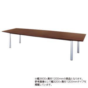 会議テーブル 幅3600mm 奥行1200mm 舟形  ミーティングテーブル 高級感 会議室 オフィス オフィステーブル オフィス家具 GTE-3612F lookit