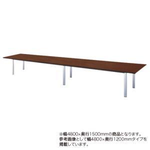 会議テーブル 幅4800mm 奥行1500mm 角型  ミーティングテーブル 高級感 会議室 オフィス 多人数用テーブル 大型テーブル オフィス家具 GTE-4815K|lookit