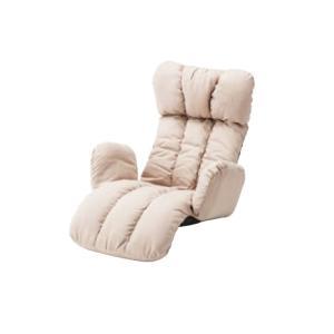 座椅子 ローソファ 1人用 幅78cm フロアチェア リクライニングチェア 肘付チェア リビング パーソナルチェア シンプル 布張り うたた寝チェア LSS-28|lookit