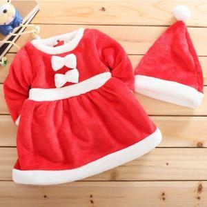 最安値挑戦!サンタ 衣装 コスプレ 女の子 ワンピース 子供 サンタクロース|lookume