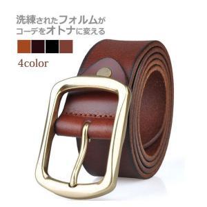 ベルト メンズ カラー レザーベルト 男性用  Belt lookume