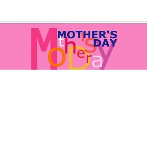 『MOTHER'SDAY』 横型フラック サイズ2L:1200×400 looky