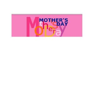 『MOTHER'SDAY』 横型フラック サイズ1L:900×300 looky