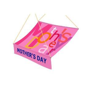 『MOTHER'SDAY』 ハーフルーフペナント サイズ:900×800|looky