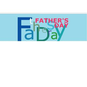 『FATHER'SDAY』 横型フラック サイズ2L:1200×400|looky