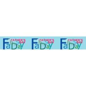 『FATHER'SDAY』 コピーベルト6枚セット サイズ1L:1000×150|looky