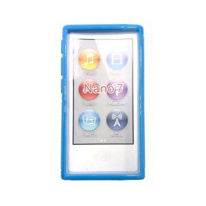 ポイント消化 iPod nano 第7世代 カバー ケース TPU ベルトクリップ アイポッド ナノ 7世代 nano7 対応 ブルー|lool-shop