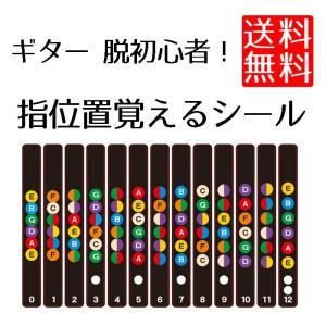 ギターフレット ギター 初心者 練習 用 指位置 音名 配置 指板 シール