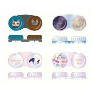 NLコンタクトレンズケース 日本製 ネコ 猫 飴 星空 カラコン コンタクトレンズ ケア用品 人気 loook
