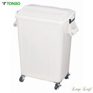 トンボ 厨房ペール キャスター付 70型 ナチュラル KPC-80|loopleaf