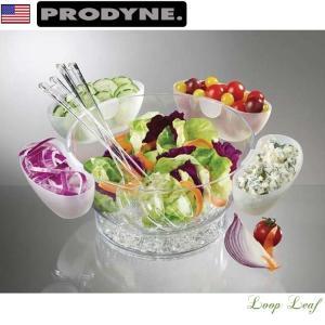 スタンド部に氷を入れてサラダを冷却、新鮮さを保ちます 保冷式 ビュッフェ、パーティに特におすすめ!