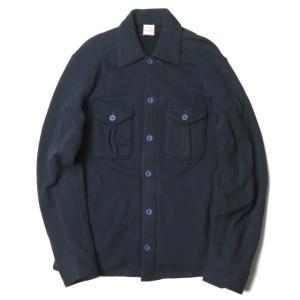LOOPWHEELER ループウィラー 日本製 スウェットCPOシャツ M ネイビー ジャケット ト...