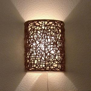 ウォールライト アジアン ラタン おしゃれ LED電球対応 バリ リゾート インテリア モダン 壁掛け照明 間接照明 ブラケットライト 壁掛け灯 loopsky