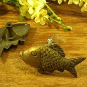 真鍮取っ手 簡単 施工 魚 モチーフ アジアン インテリア 雑貨 loopsky