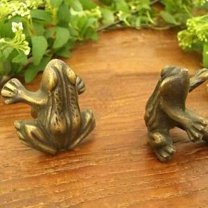 真鍮取っ手 簡単 施工 カエル モチーフ アジアン インテリア 雑貨 loopsky