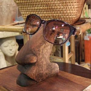 アジアン家具 アジアン雑貨 メガネスタンド 眼鏡 木製 オブジェ 洗面所 おしゃれ loopsky