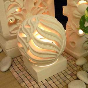 フロアライト アジアン ストーン 石彫り おしゃれ LED電球対応 バリ リゾート インテリア モダン スタンドライト フロアランプ 照明器具 オブジェ loopsky