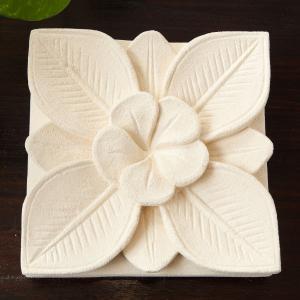 アジアン バリ 雑貨 家具 ストーンパネル フランジパニ おしゃれ パネル プレート 飾り 彫刻 オブジェ loopsky