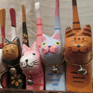 リングホルダー リング 指輪 インテリア 置物 猫 手作り アジアン アジアン家具 loopsky