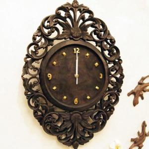 時計 壁掛け時計 インテリア アジアン アジアン家具 送料無料|loopsky