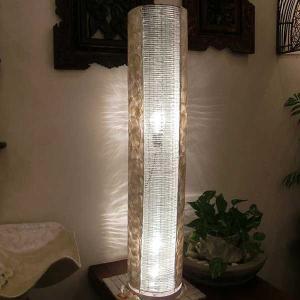 フロアライト アジアン カピスシェル 貝殻 おしゃれ 2灯式 LED電球対応 バリ リゾート インテリア モダン スタンドライト フロアランプ 照明器具 loopsky