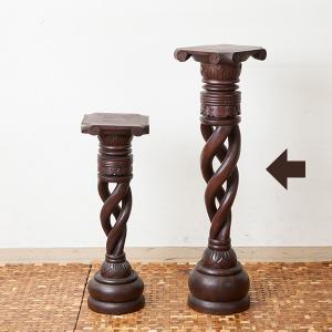 スタンド 木製 アジアン おしゃれ 花台 サイドテーブル エスニック loopsky