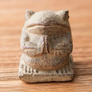 石像 置物 インテリア オブジェ 石 彫刻 像 ゾウ アンティーク アジアン アジアン家具|loopsky