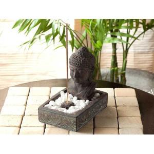 お香 お香立て 線香 仏陀 ブッダ 彫刻 インテリア アンティーク|loopsky