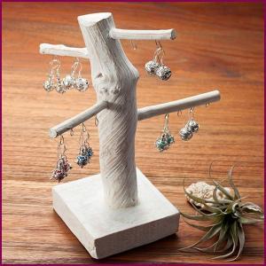 ホルダー 小物 おしゃれ アクセサリー 収納 スタンド ピアススタンド アジアン雑貨 天然木|loopsky