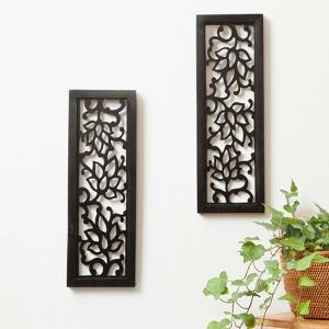 アジアン バリ 雑貨 家具 飾り 彫刻 オブジェ レリーフ モダン 壁掛け おしゃれ 木製|loopsky