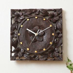 時計 壁掛け おしゃれ 木製 アジアン家具 バリ リゾート インテリア モダン 壁掛け時計 壁時計|loopsky