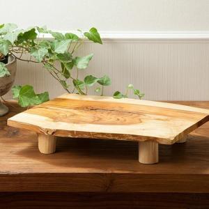 アジアン雑貨 チーク プレート 皿 すしプレート 寿司 脚付き 35cm 台|loopsky