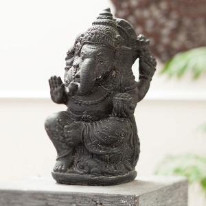 アジアン雑貨 石像 ストーン インテリア ガネーシャ 神様 オブジェ お守り|loopsky