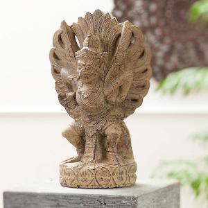 アジアン雑貨 石像 ストーン インテリア ガルーダ 神様|loopsky