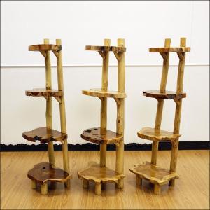 棚 4段 アジアン家具 チーク無垢材 おしゃれ 木製 バリ 個性派 個性的 男前インテリア ディスプレイ 収納棚|loopsky