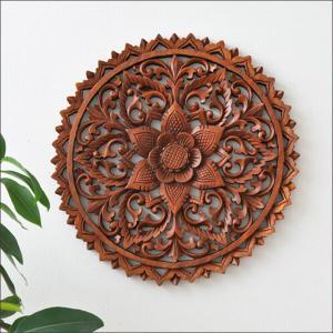 アジアン雑貨 バリ雑貨 木彫り 壁面 オブジェ 彫刻 壁掛け パネル アート|loopsky