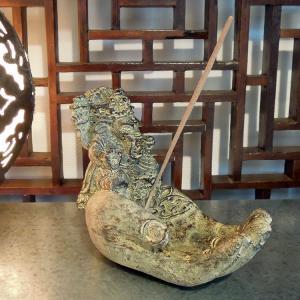 お香立て アジアン雑貨 スティック ガネーシャ神 香皿 アロマ 玄関 バリ リゾート インテリア|loopsky