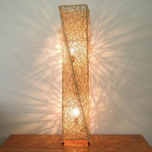 フロアライト アジアン おしゃれ ラタン セクシーランプ 2灯式 LED電球対応 バリ リゾート インテリア モダン スタンドライト フロアランプ 照明器具 loopsky